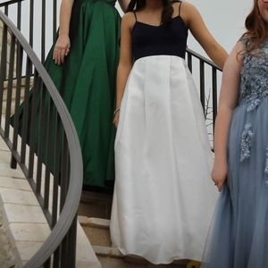 Dresses & Skirts - Navy and white prom dress!
